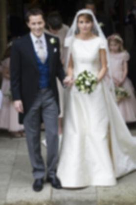 Thomas & Alexandra following their wedding at Romsey Abbey