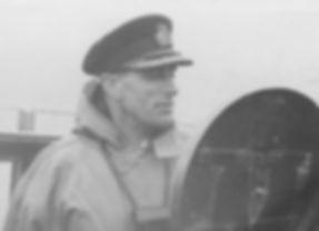 Mountbatten on the bridge of HMS Kelly