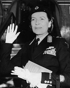 Edwina, Countess Mountbatten of Burma in St John's Ambulance Brigade uniform 