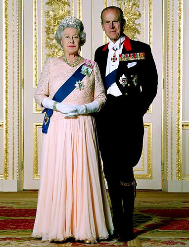 An official photograph of Queen Elizabeth II  & Prince Philip, Duke of Edinburgh  for The Queen's Golden Jubilee 2002 ​