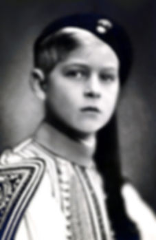 Prince Philip  of Greece & Denmark (wearing traditional Greek costume) aged 9yrs ​