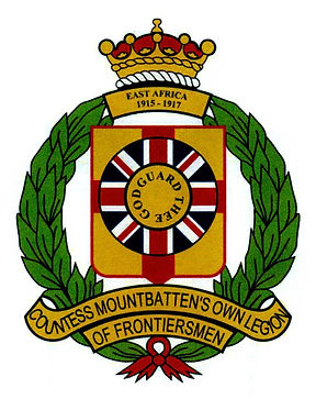 The insignia of Countess Mountbatten's Own Legion of Frontiersmen