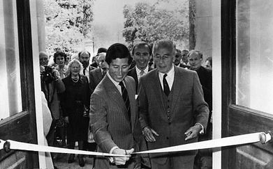 Prince Charles, The Prince of Wales & Mountbatten at the official opening of Broadlands to the public