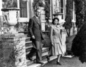 Prince Philip, The Duke of Edinburgh & The Princess Elizabeth (now Queen Elizabeth II) on their honeymoon at Broadlands 