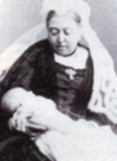 Queen Victoria holding newly born Mountbatten  
