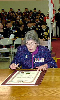 Patricia at the official handover ceremony relinquishing the role of Colonel-in-Chief of the PPCLI