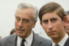 Mountbatten with Prince Charles, The Prince of Wales (right) 