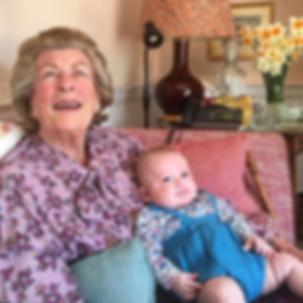Lady Pamela Hicks with her new grandson - Caspian on her 89th birthday in April 2018 ​