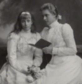 Alice with her younger sister Louise (left), later Queen Louise of Sweden