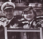 Mountbatten & Edwina in the post-WWII Victory Parade, London