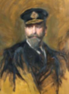 A closer view of the de László portrait of Louis, 1st Marquess of Milford Haven (Prince Louis of Battenberg)
