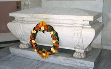 The sarcophagus within the Battenberg Mausoleum above Alexander's final resting place