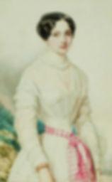 A portrait of Countess Julia  VON Hauke by Woldemar Hau