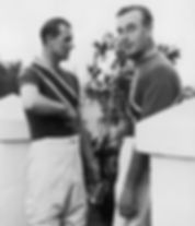 Philip with his uncle - Mountbatten (right) after a polo match  ​