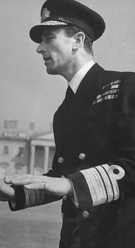 Vice Admiral Mountbatten at Broadlands