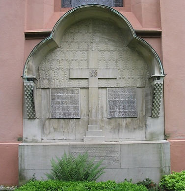 The joint grave of  Gustav & Marie,  in the cemetery of the Marienkirche, Schönberg  