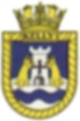 The Ship's badge of HMS Kelly