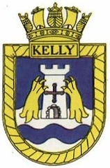 The Ship's badge of HMSKelly