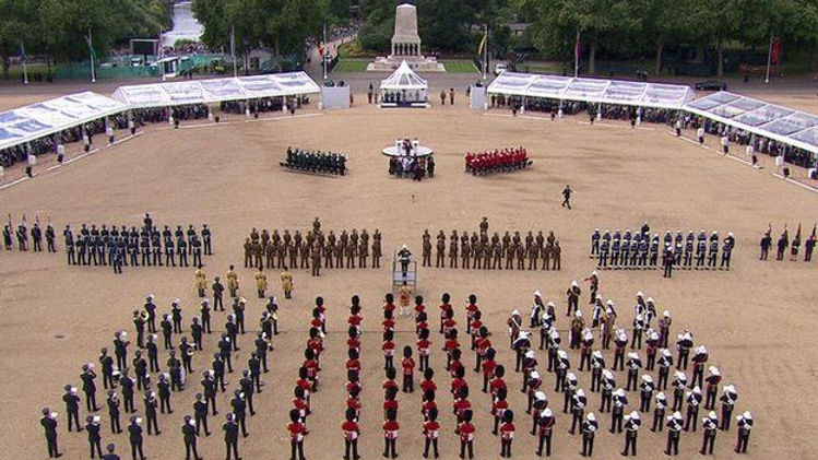 The VJ70 Drumhead Service at Horseguards Parade, London ​