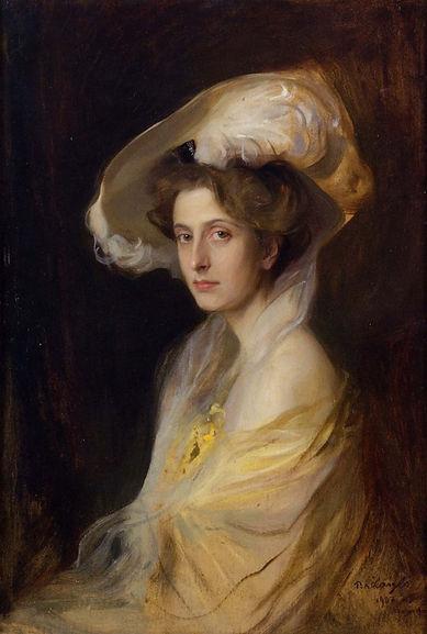 A 1907 portrait of Louise by society artist Philip de László