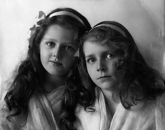 Edwina (right) with her sister Mary