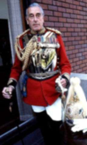 Mountbatten in the uniform as Colonel of the Life Guards (Gold Stick in Waiting)