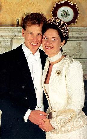 Ivar & Penelope on their wedding day 