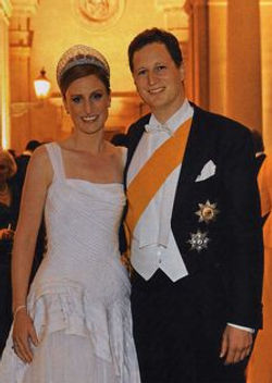 Prince Georg Friedrich, The Prince of Prussia, Head of the House of Hohenzollern (right) with his wife Princess Sophie 