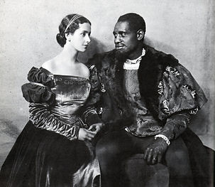 "Dame Peggy Ashcroft & Paul Robeson (right) in the 1930 production of ""Othello"" ​"