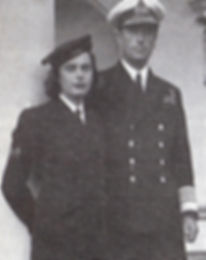 Patricia in WRNS uniform with Mountbatten ​