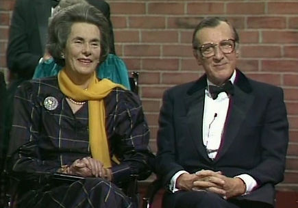 """Patricia & John, 7th Lord Brabourne during the recording of """"This Is Your Life"""""""