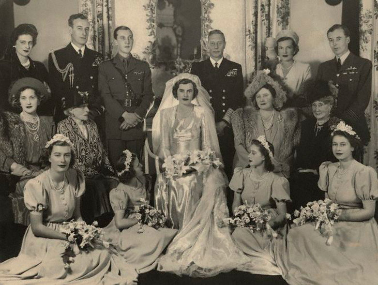 A photograph from the wedding of The Hon. Patricia Mountbatten & John, 7th Lord Brabourne