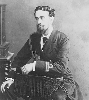 Prince Louis of Battenberg as a young Lieutenant in the Royal Navy ​