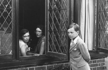 Nadejda (centre) with her two children David (right) and Tatiana (left) at their home Lynden Manor, Holyport, Bray, Berkshire 