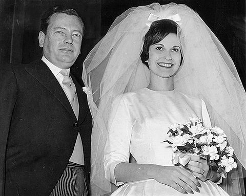 David & Miss Janet Bryce (now Marchioness of Milford Haven) on their wedding day ​