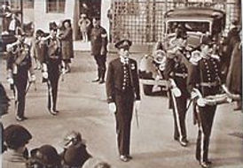George's funeral procession -  led by David, Earl of Medina later 3rd Marquess of Milford Haven ​