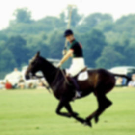 Philip playing polo at Smiths Lawn, Windsor Great Park ​