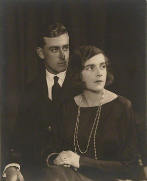 An engagement photograph of Mountbatten & Edwina ​