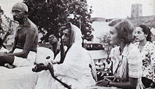 Pamela at an open event led by Mohandas K. Gandhi, the spiriutal father of Indian independence  