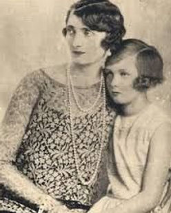 Irene, Marchioness of Carisbrooke with their daughter - Iris 