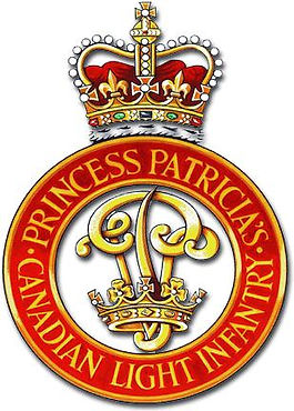 """The insignia of """"The Patricias""""- Princess Patricia's Canadian Light Infantry (PPCLI) """