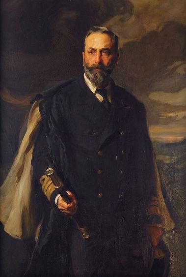 A portrait of Louis, 1st Marquess of Milford Haven, (Prince Louis of Battenberg) by Philip de László 
