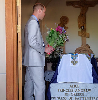 Prince William, The Duke of Cambridge visited the grave of Alice,  Princess Andrew of Greece & Denmark (his great-grandmother) whilst on an official visit to Israel in 2018