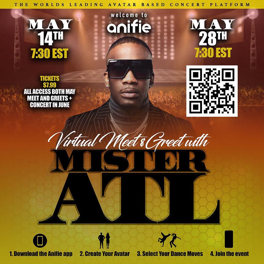 Mister ATL Virtual concert Anifie series