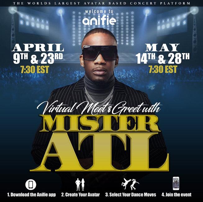 Mister ATL virtual concert Anifie