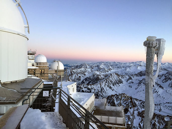 Sunset from the Pic du Midi observatory