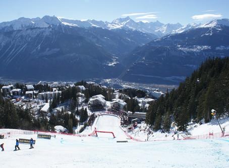 Maridaje perfecto: esquí y vino. Crans Montana pista Mont Lachaux y Cava Tantum Ergo Pinot Noir
