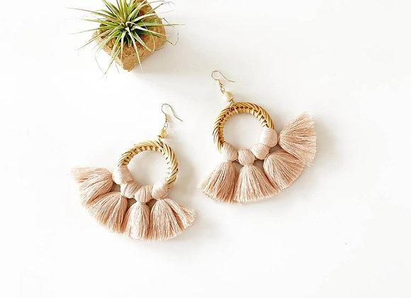 Ratan & Fan Fringe Earrings