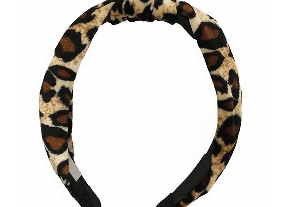 Leopard Top Knot Headband