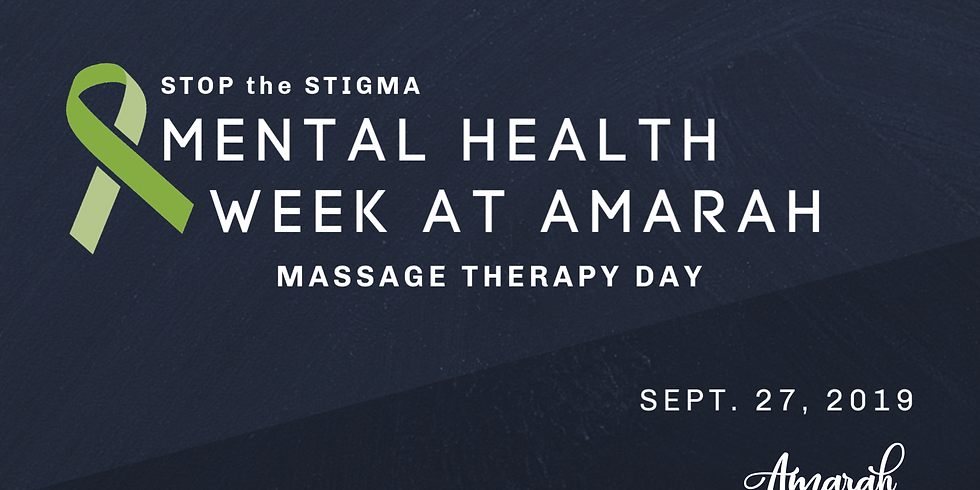 Mental Health Week - Massage Therapy Day